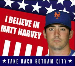 Tonight will be the biggest spotlight Matt Harvey has pitched under in his career