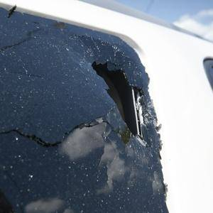 MIchael Pineda's smashed windshield