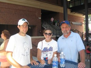 Me, My Sister and My Dad at Citi Field
