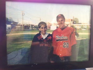 My sister and I after one of my high school games