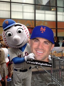 Mr. Met wants you to Vote Wright Now!