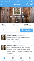 Mike Piazza thanks all his supporters