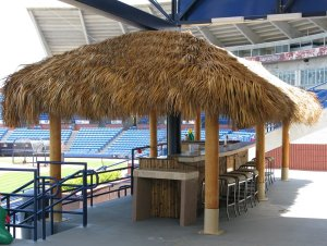 Not sure if there is a better place to watch a baseball game from than a Tiki Bar