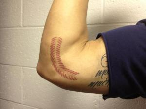 Kyle Banks turned his Tommy John scar into a work of art