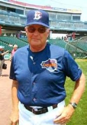 George Greer while he was serving as hitting coach with the Brooklyn Cyclones